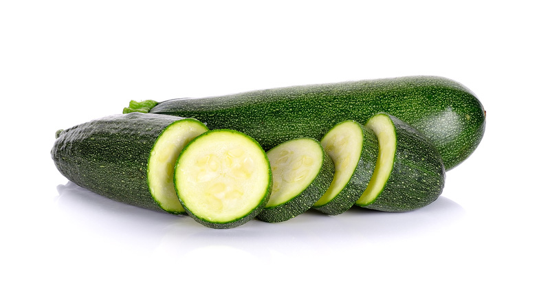 Zucchini white background image